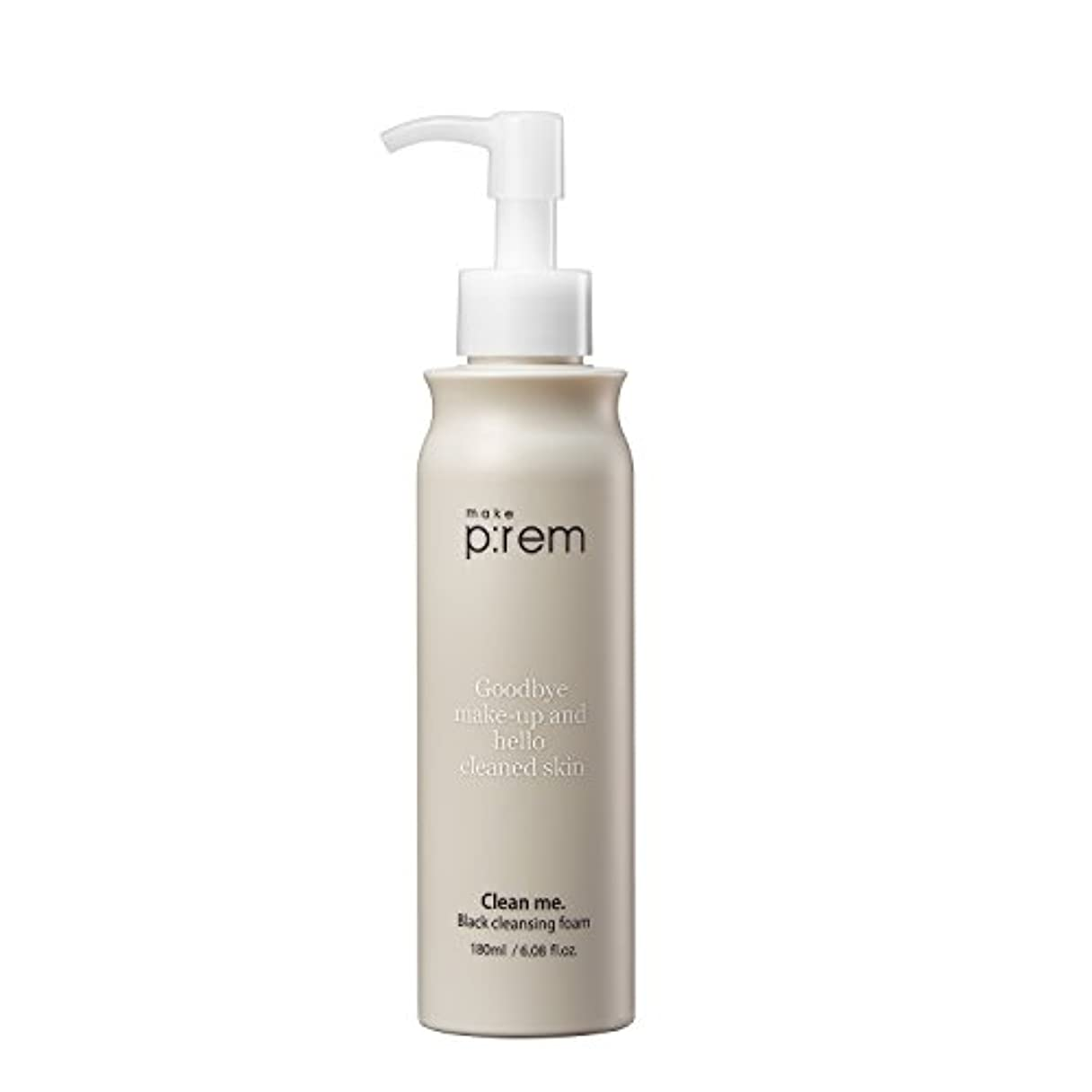 ウェイター書誌リテラシー[MAKE P:REM] clean me. 黒 クレンジング?フォーム 180ml black cleansing foam / 韓国製 . 韓国直送品