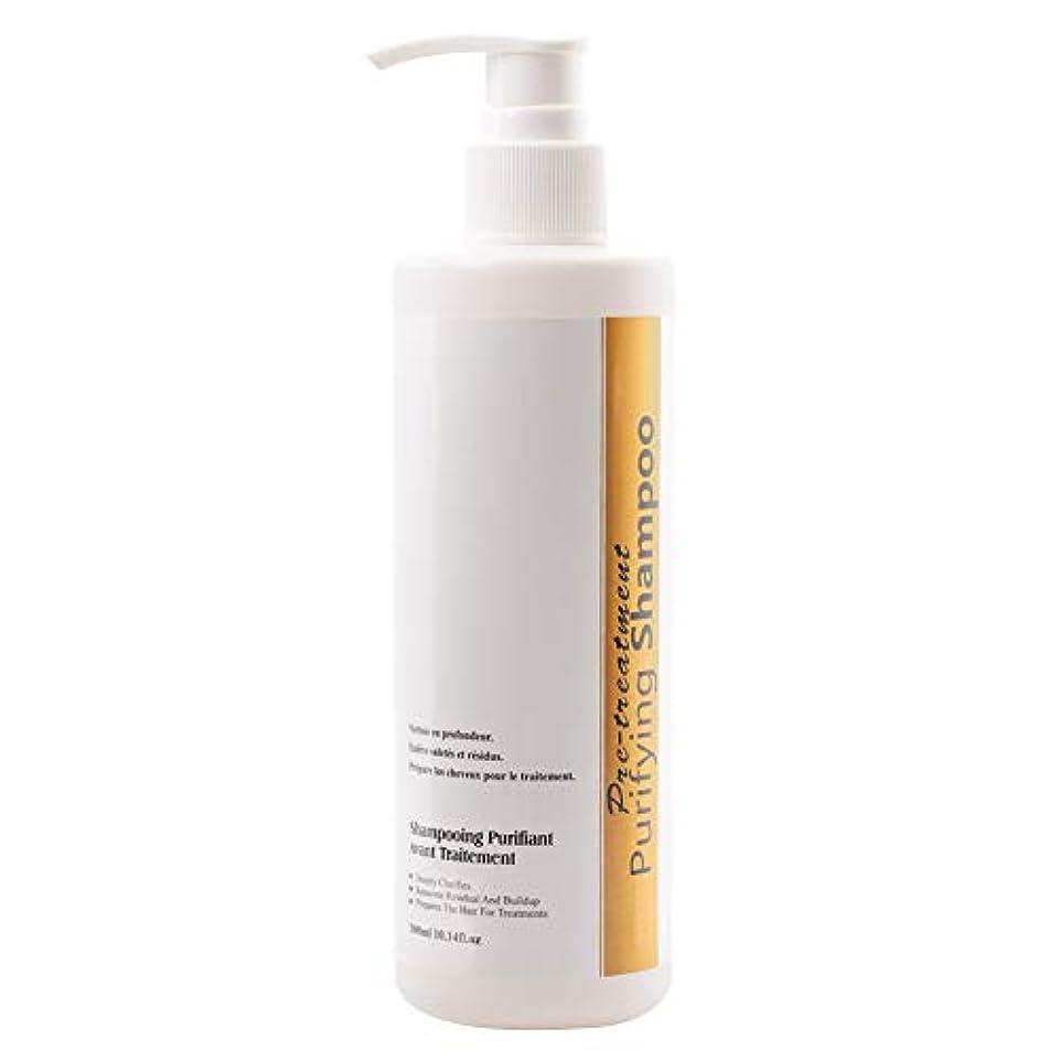 小競り合い媒染剤厚さシャンプーを明確にすることクレンジングシャンプーは毎日の樹脂から集結を取り除きます300mlプロフェッショナルケラチンヘアピュリファイング