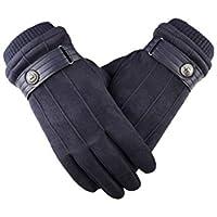 手袋、屋外の肥厚+ベルベットのタッチスクリーン,B