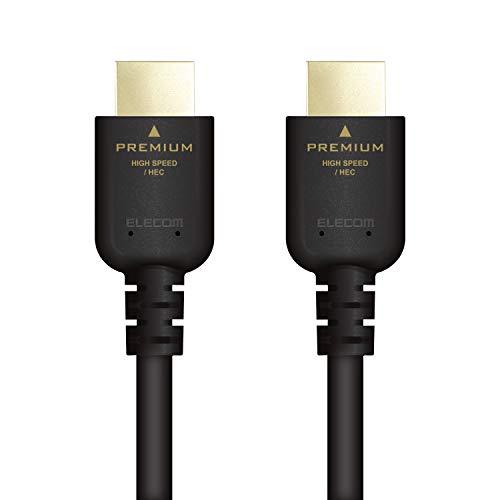 エレコム ハイスピード Premium HDMIケーブル 4K/Ultra HD イーサネット対応 3.0m  ブラック DH-HDPS14E30BK