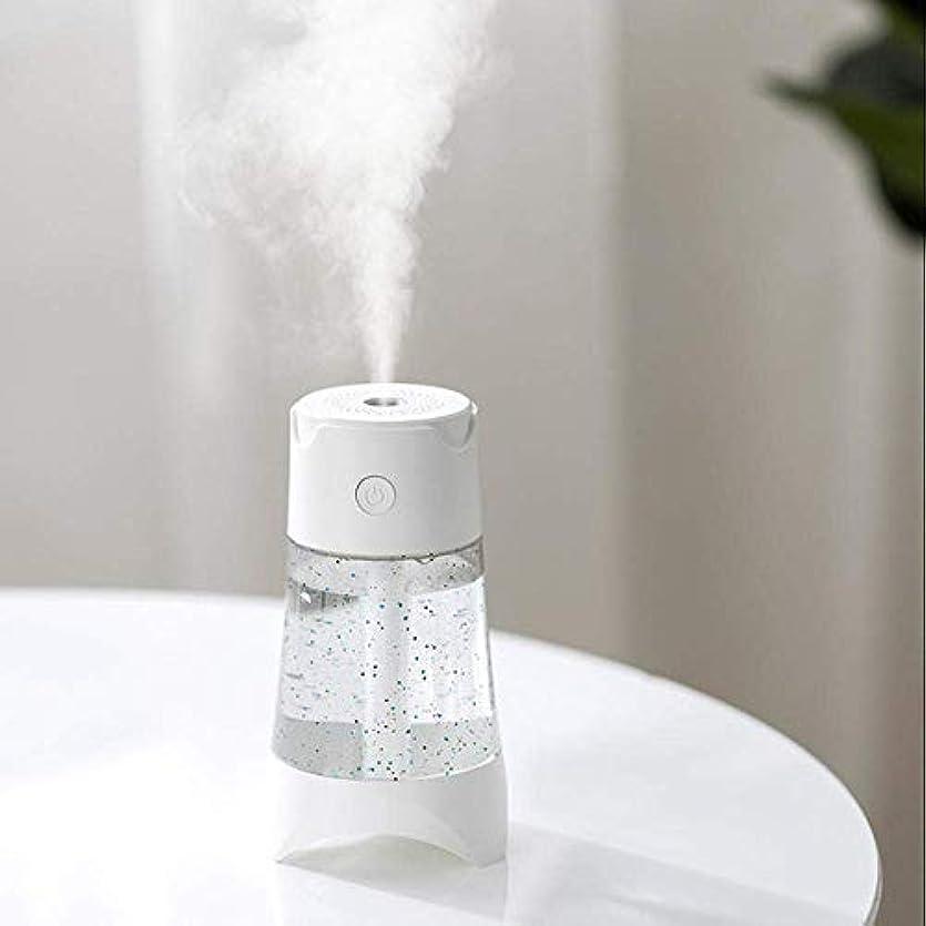 水平ユーモラス順応性のあるSOTCE アロマディフューザー加湿器超音波霧化技術が内蔵水位センサー満足のいく解決策の美しい装飾 (Color : White)