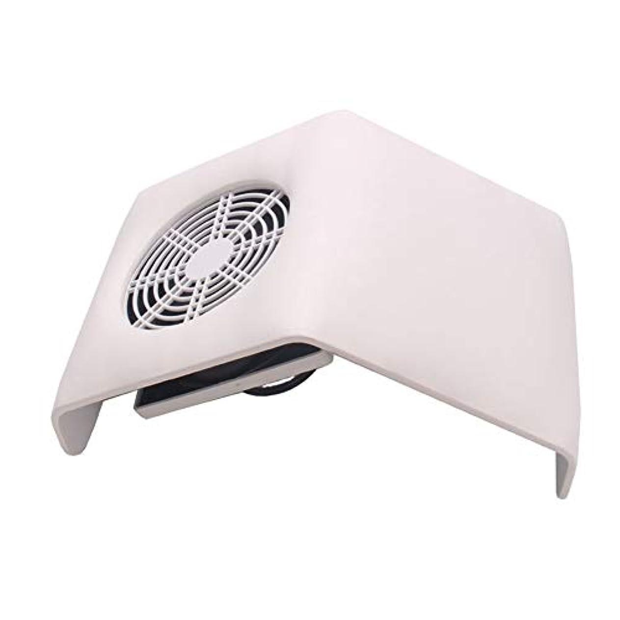 ミント計算する半円集塵機吸引ファン、2つの集塵袋付きネイル掃除機バッグネイルアートマニキュアサロンツールの収集マニキュアの工作機械ダストネイル (Color : White)