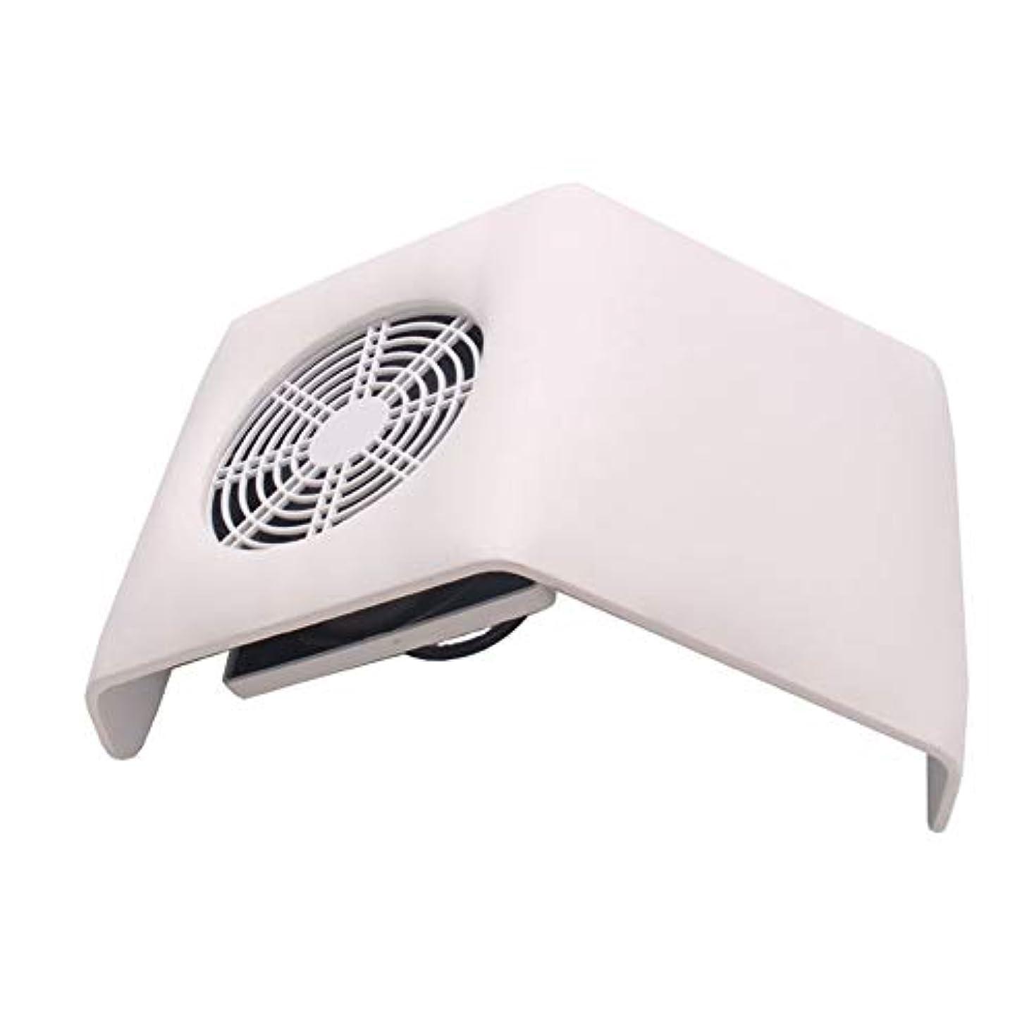 裏切り者どういたしましてかんがい集塵機吸引ファン、2つの集塵袋付きネイル掃除機バッグネイルアートマニキュアサロンツールの収集マニキュアの工作機械ダストネイル (Color : White)