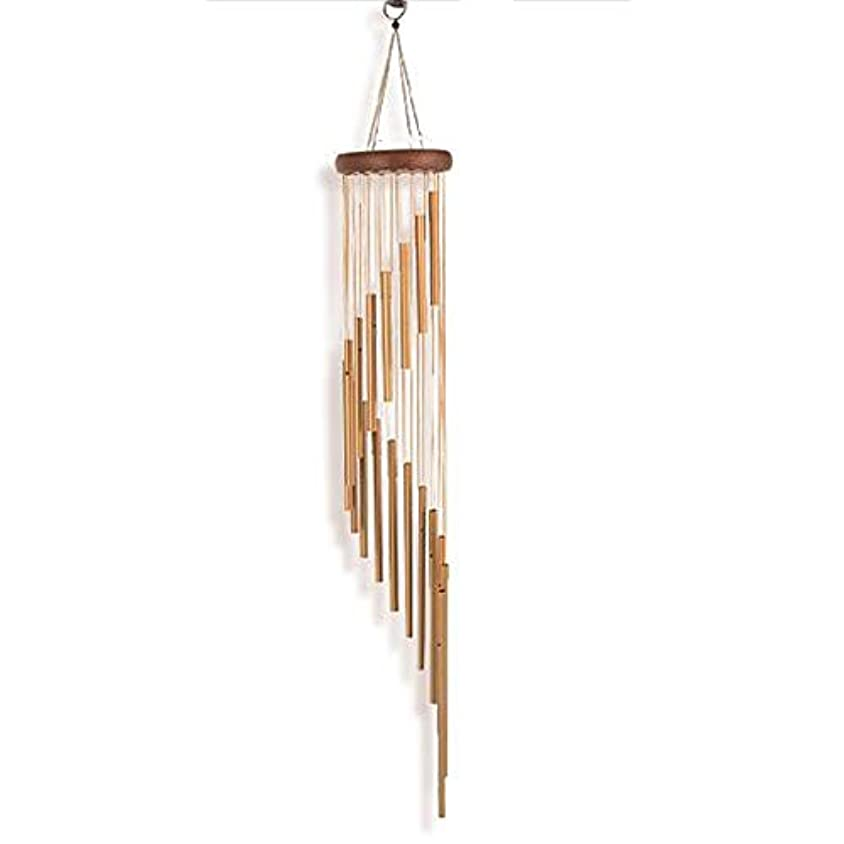 万歳博覧会かまどYougou01 風チャイム、メタルクリエイティブ18チューブ風の鐘、ゴールド、全身について90CM 、創造的な装飾 (Color : Gold)