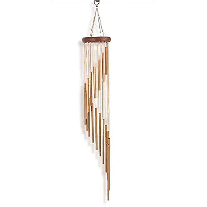 軽蔑ホイストベテランYougou01 風チャイム、メタルクリエイティブ18チューブ風の鐘、ゴールド、全身について90CM 、創造的な装飾 (Color : Gold)