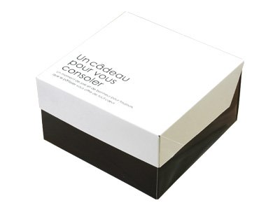 ガトーショコラBOX 2トーンホワイト(金台紙付) (10枚)