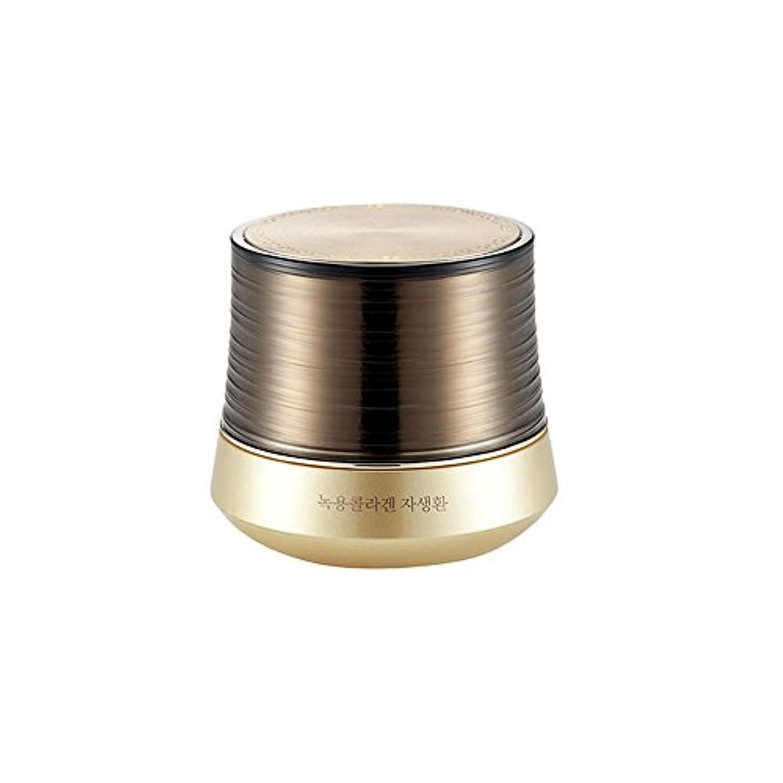 商人拮抗する形式[ザ?フェイスショップ] The Faceshop 鹿茸コラーゲンコントゥールリフトゴールドカプセルクリーム50g The Faceshop Nokyong Collagen Contour Lift Gold Capsule...