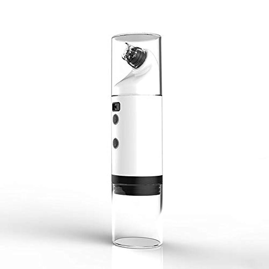 写真フラスコ離れたにきび楽器、電気吸引にきび世帯、毛穴クリーニング小さな泡美容器具、、フェイス鼻のためのLEDディスプレイと充電式USBおでこホワイトヘッドクリーン