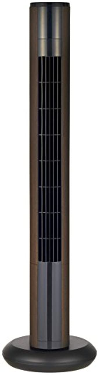 魔女探す同化Pieria(ピエリア) スリムタワーファン 木目調ダークウッド フルリモコン式 風量3段階切替 減光機能付き QIR-383 DWD