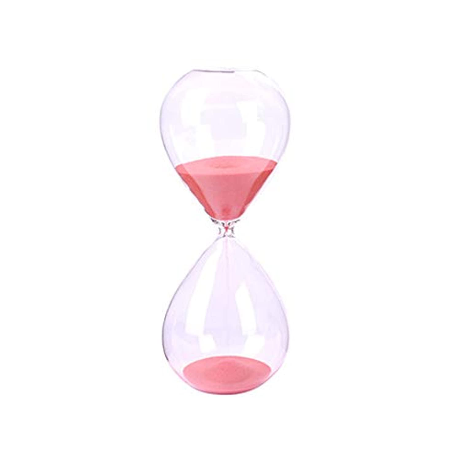 同種の呼吸する乏しい砂時計タイマークリアガラス インテリアタイマー 砂時計 子供 サンドタイマー 家の装飾 ゲーム 誕生日プレゼント ピンク 10分 6.5 * 16.5cm