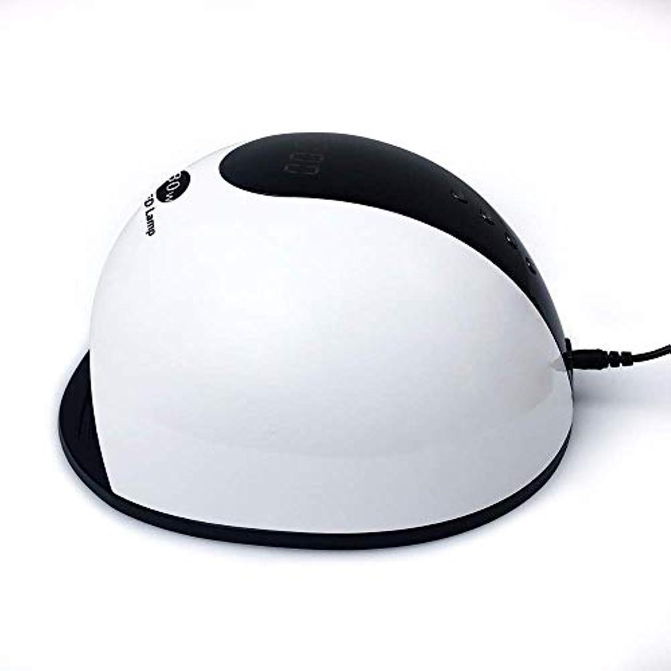 美的電化するバンドネイルドライヤー80W UV LEDジェルランプマニキュア用ジェルポリッシュアイスランプ(36個のLED付き)ドライヤーランプスマートLCDディスプレイネイルマシン、写真の色