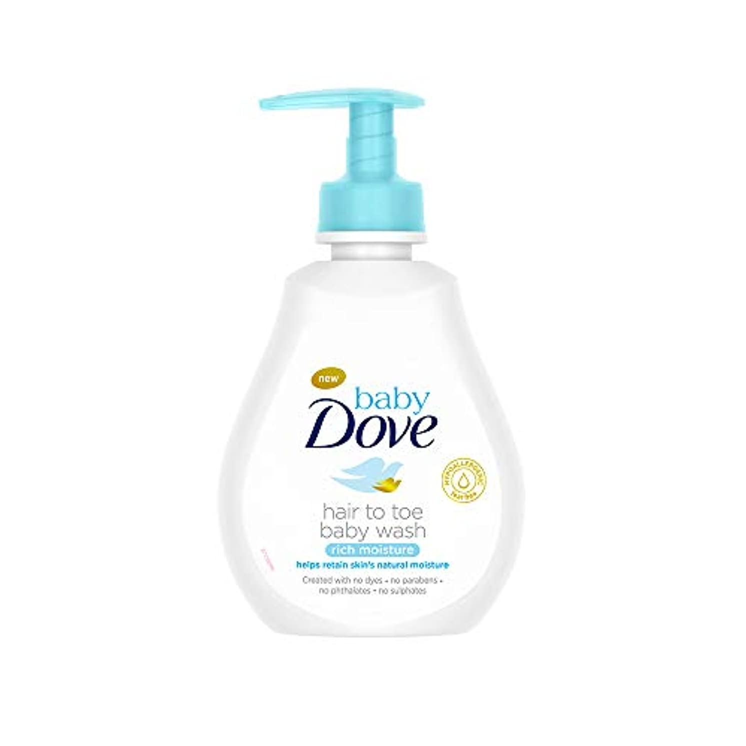 サーバ泳ぐエントリBaby Dove Rich Moisture Hair to Toe Baby Wash, 200 ml
