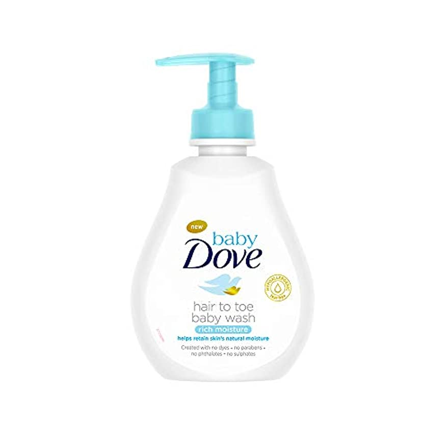 失業者階層プレートBaby Dove Rich Moisture Hair to Toe Baby Wash, 200 ml