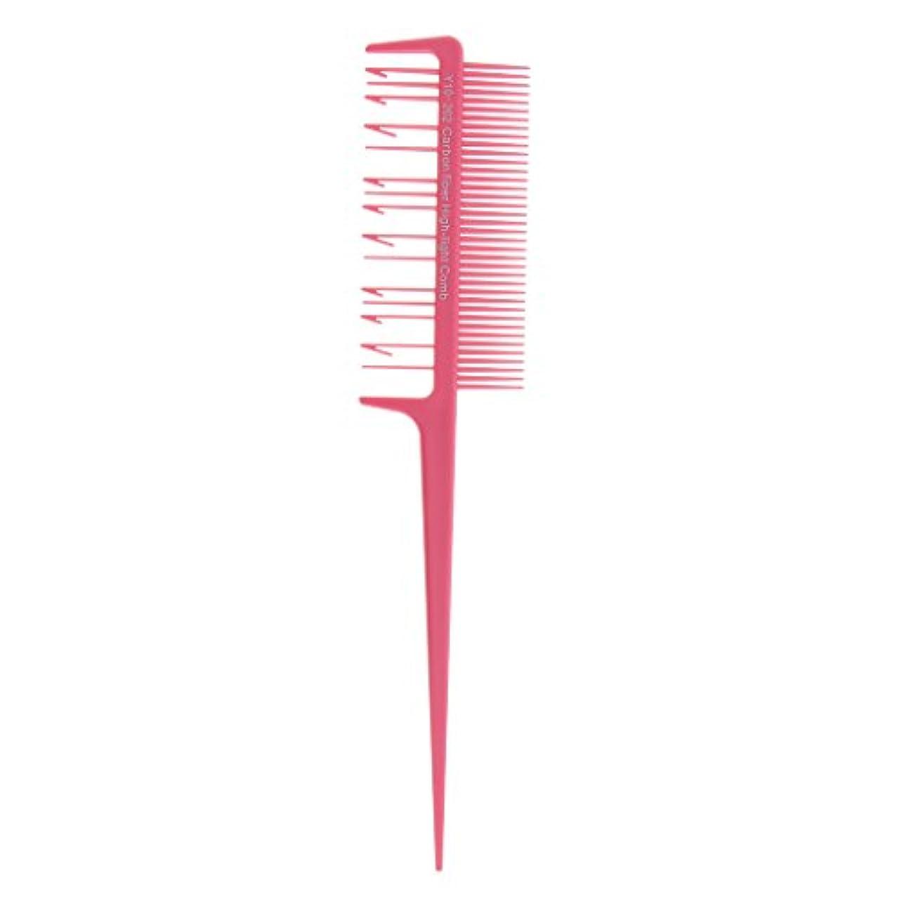 サドル実際咳Toygogo プラスチック ヘアダイ ブラシ コーム ヘアカラーブラシ ヘアブラシ 櫛 洗浄 簡単 便利 全4色選べる - ピンク, 説明したように