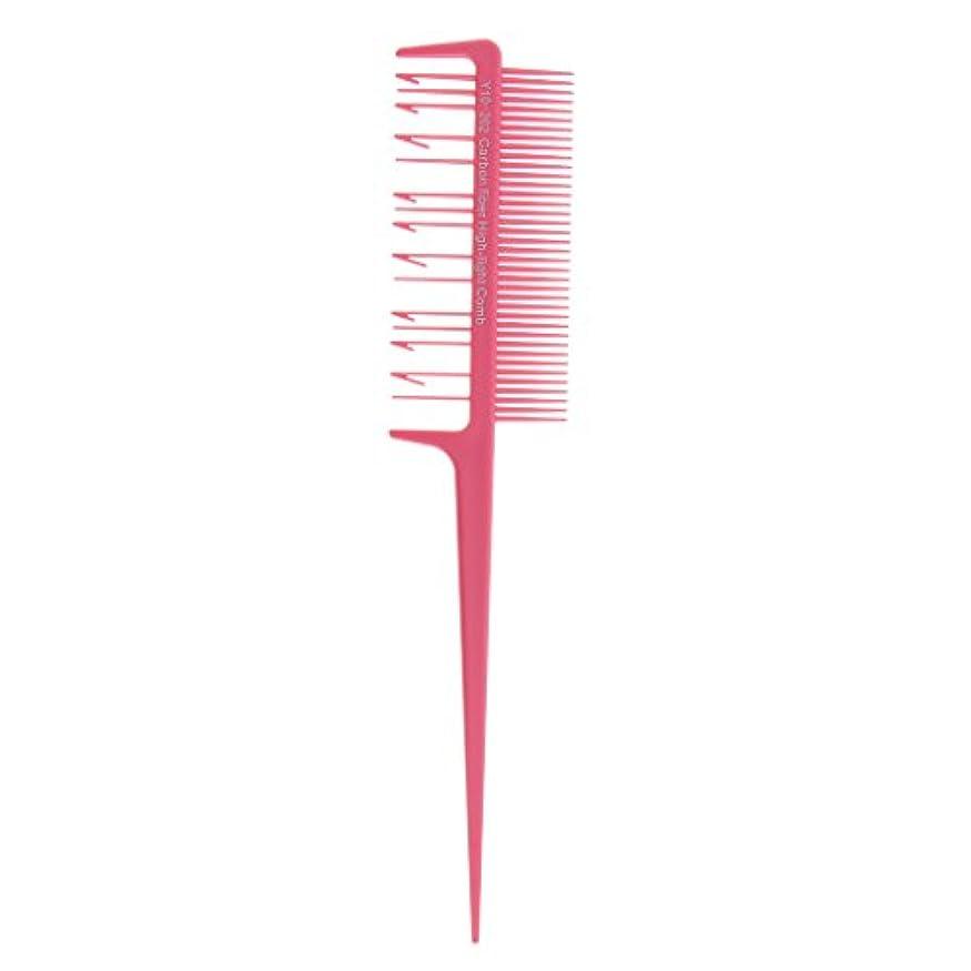 肩をすくめるサイズ遺産Toygogo プラスチック ヘアダイ ブラシ コーム ヘアカラーブラシ ヘアブラシ 櫛 洗浄 簡単 便利 全4色選べる - ピンク, 説明したように
