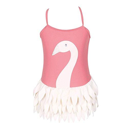 3-12歳女の子の可調節一体式のバレエ白鳥水着