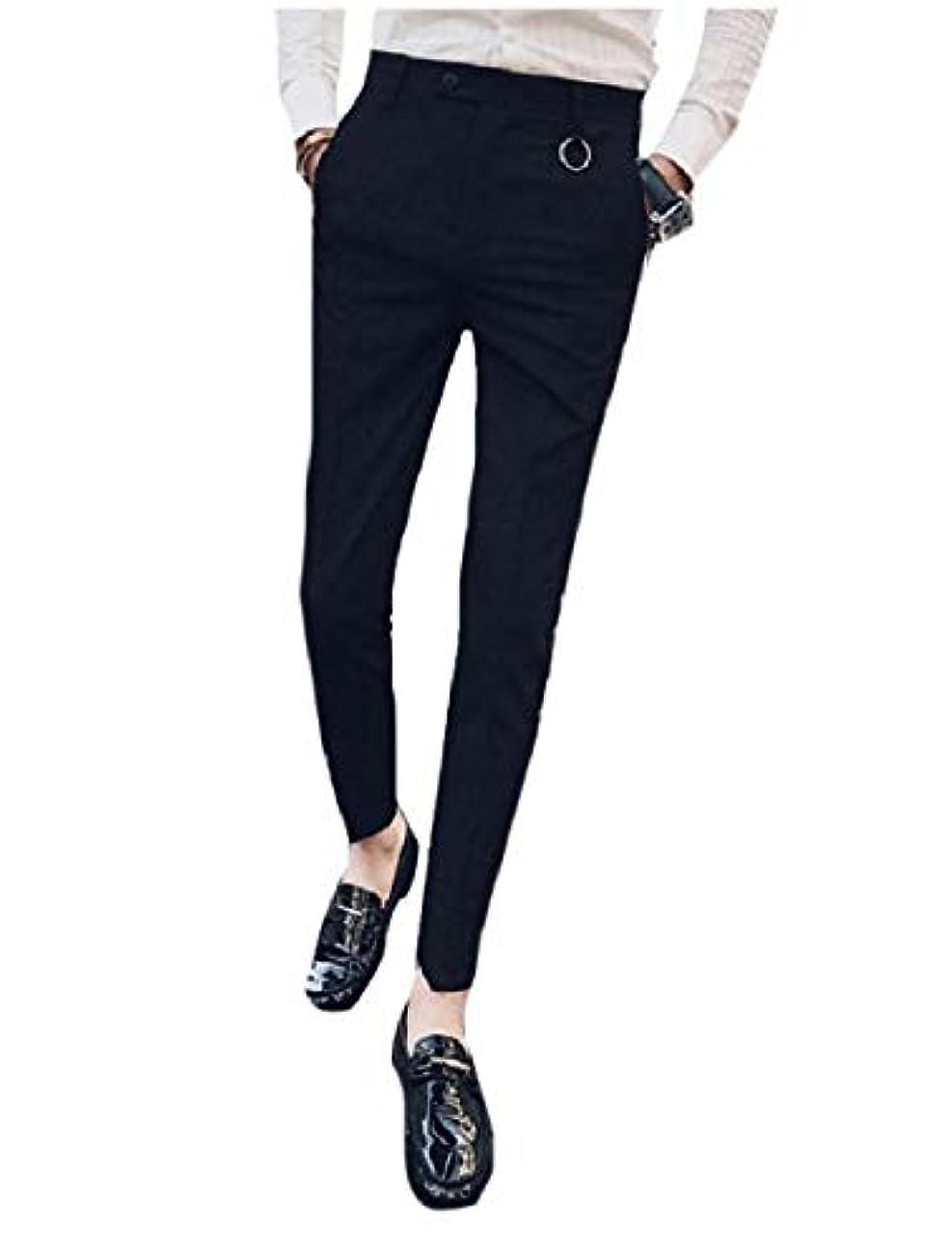 スーパーつぼみ子犬AngelSpace Mens Tapered Pure Color No-Iron Flat-Front Suit Separate Pants