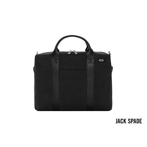 ジャックスペード ブリーフケース JACK SPADE WAXWEAR DAVIS BRIEF NYRU1011 (黒)並行輸入品