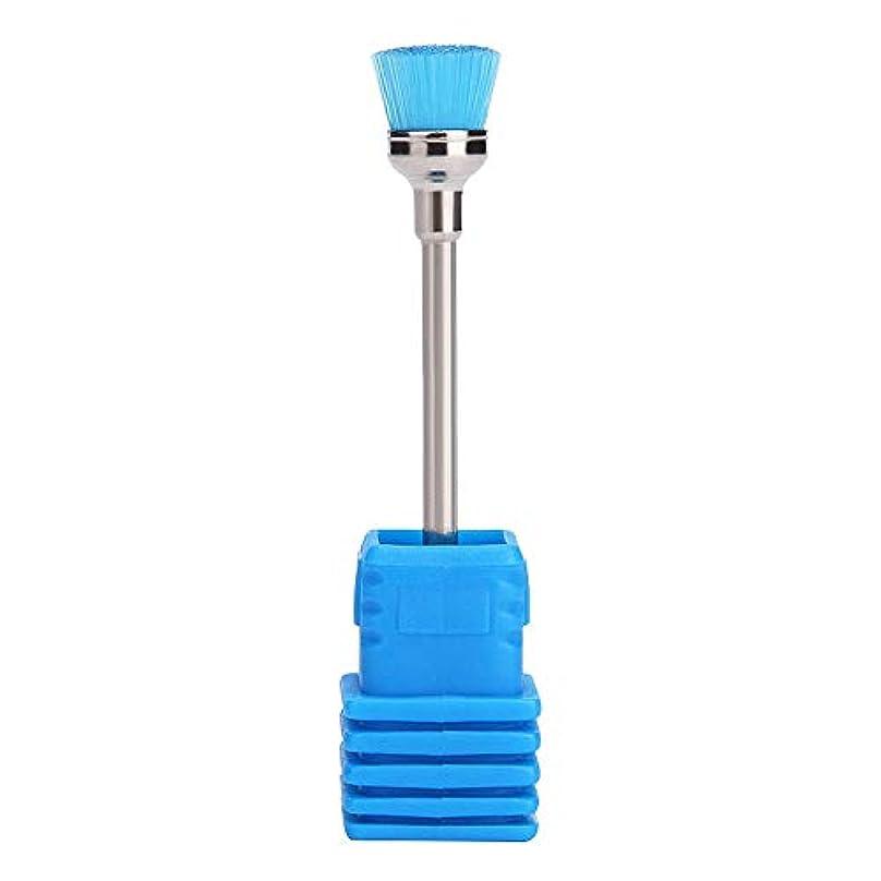 検査官版準備Lazayyii 女性 ネイルブラシ ネイル ドリルビット 清掃用具 (ブルー)