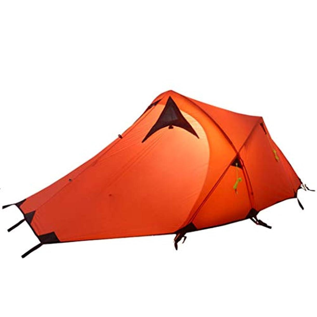 告発者不定落花生バックパックテント1 2人軽量登山二重層テントアルミロッド付き屋外用ファミリービーチ狩猟ハイキング3-4シーズン