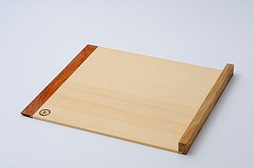 【日本製・職人手づくり】駒板/カリン+ヒバ そば/蕎麦打ち道具 (M(270 x 320mm), 斜め枕)