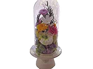 プリザーブドフラワー仏花 ギフトにおすすめ 高級 ガラスケースいり 梱包専用ケース入りでお届け