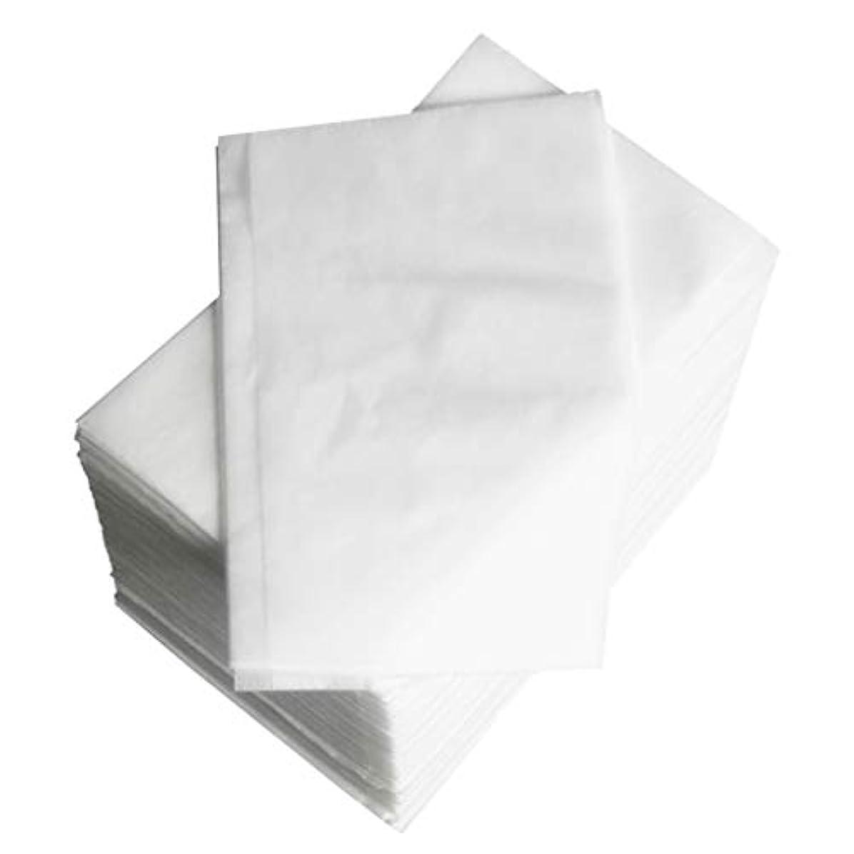コンセンサス超高層ビル肥満約100個 使い捨て マッサージ テーブルシーツベッドカバー 80×180cm 不織布 ブルー - 白