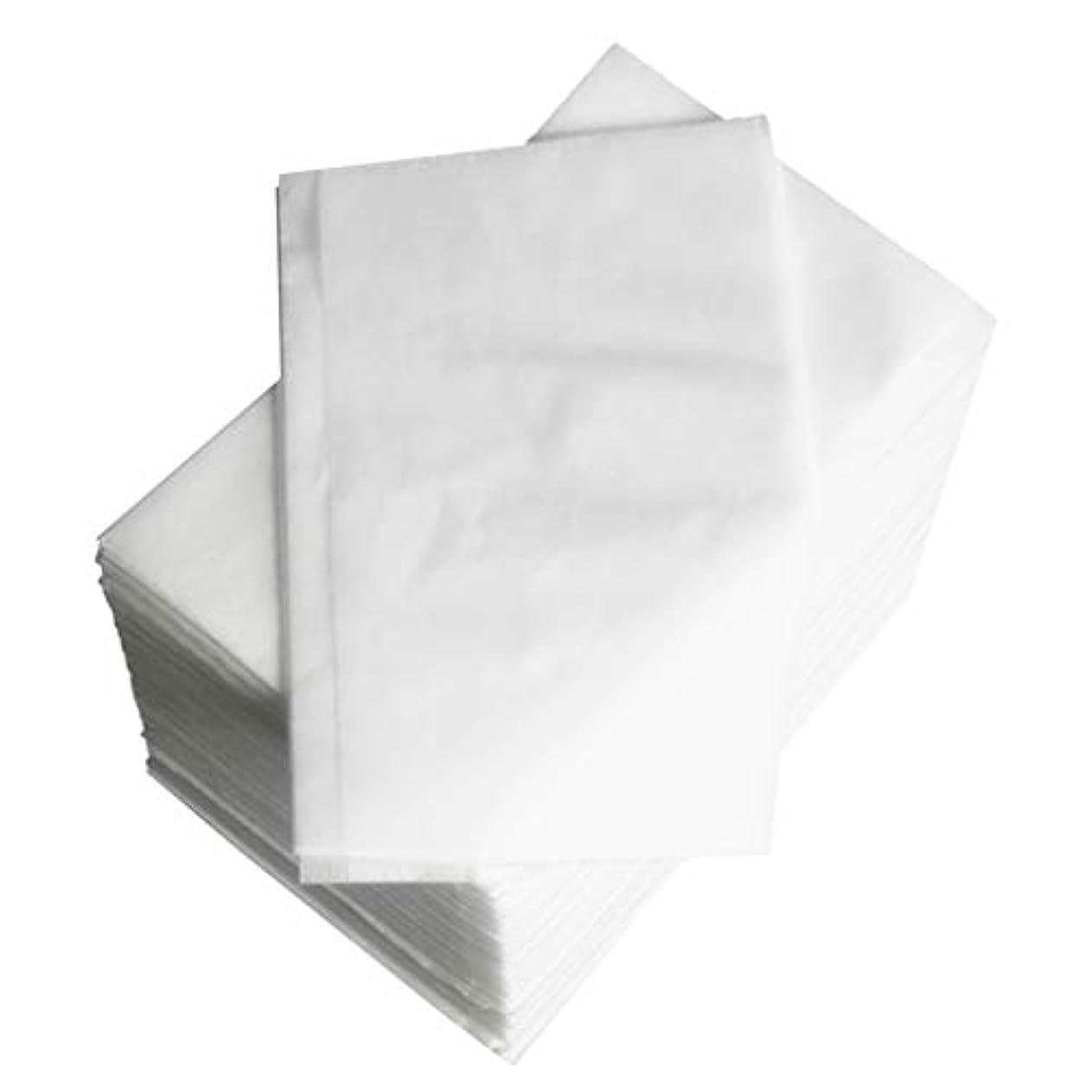 マカダム資金評判約100個 使い捨て マッサージ テーブルシーツベッドカバー 80×180cm 不織布 ブルー - 白
