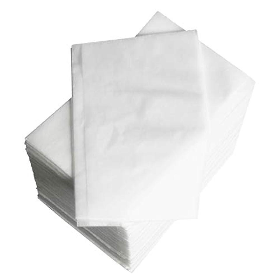 ランクルビーテレマコス約100個 使い捨て マッサージ テーブルシーツベッドカバー 80×180cm 不織布 ブルー - 白