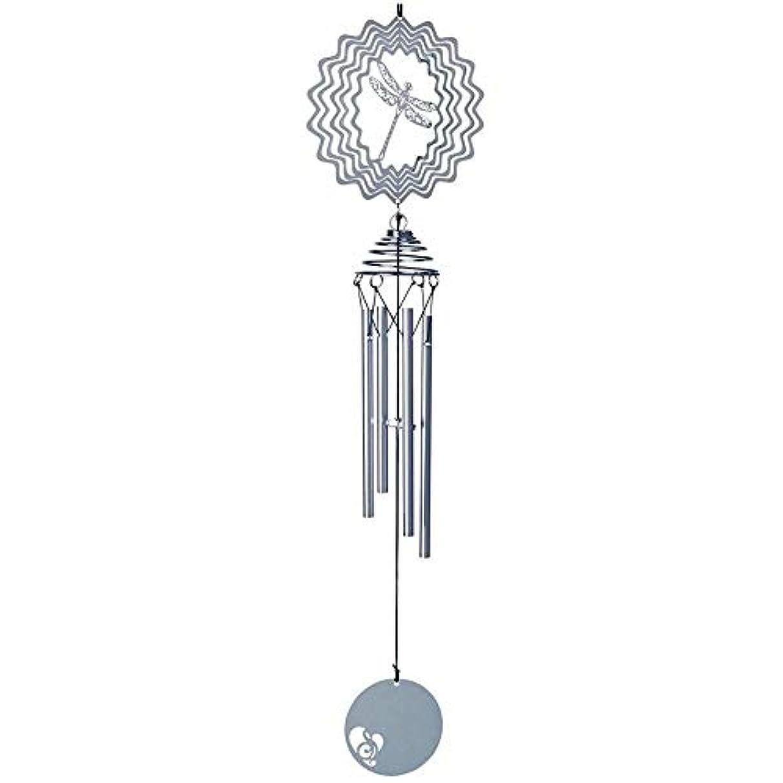 勝者するオートマトン風チャイム、3D三次元のアルミクリエイティブ風の鐘、ホームデコレーション、誕生日プレゼント、シルバー、50cm程度の長さの合計。 (Color : Silver, Size : B)