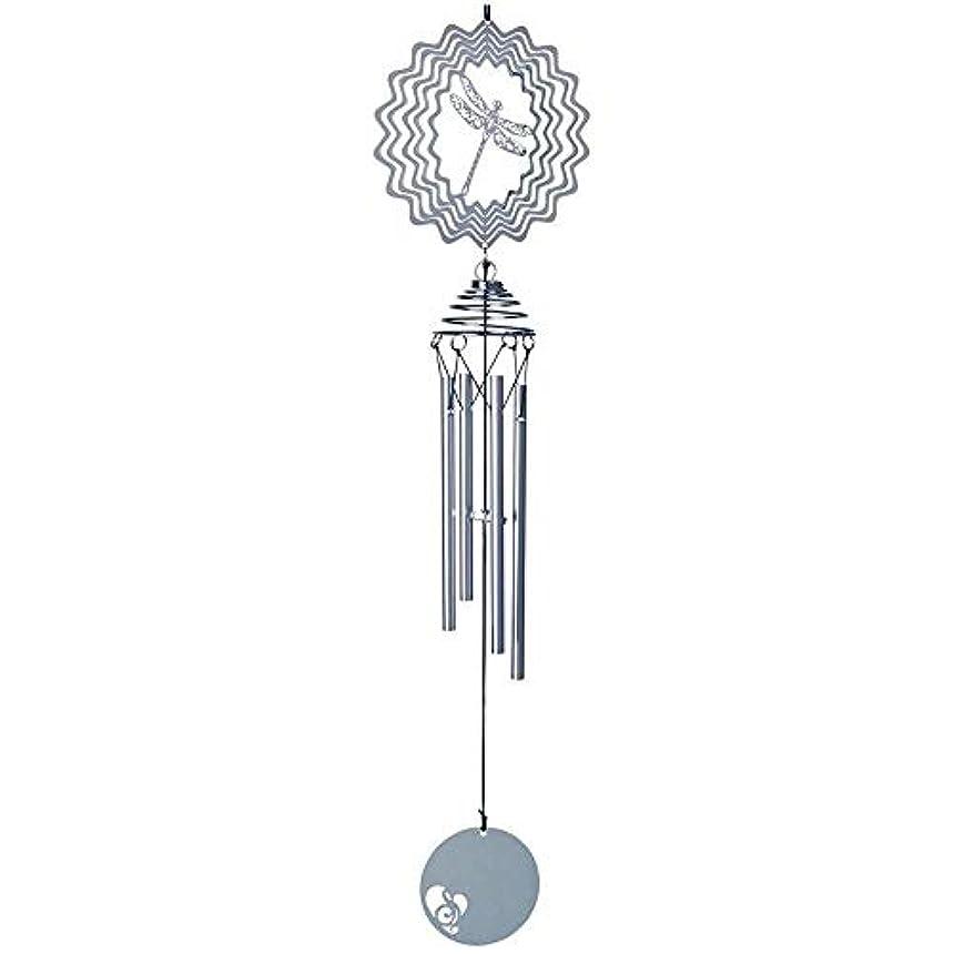 指冗長レジ風チャイム、3D三次元のアルミクリエイティブ風の鐘、ホームデコレーション、誕生日プレゼント、シルバー、50cm程度の長さの合計。 (Color : Silver, Size : B)