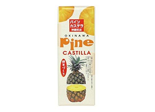 パインカステラ ×1本 わかまつどう製菓 沖縄土産に最適 南国おきなわ風かすてら パイナップルの果実入り
