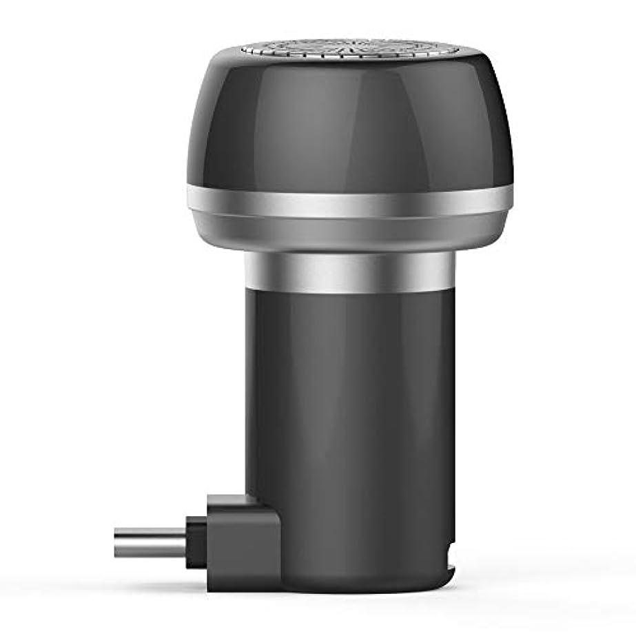 黒敬意を表するお手伝いさんJanusSaja  電気充電式シェーバー、2に付き1磁気電気シェーバーミニポータブルType-C USB防水耐久性剃刀