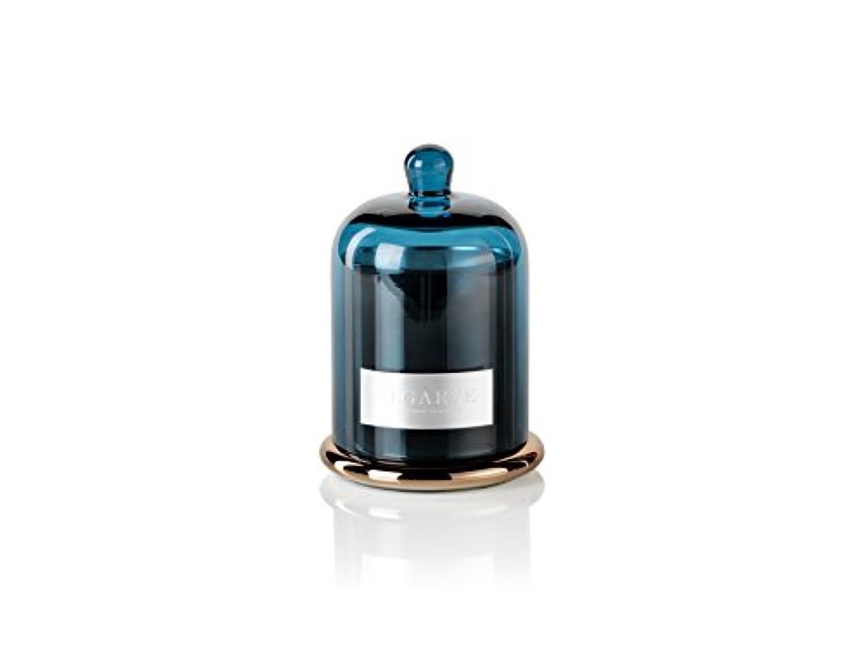 スケート思慮のない従順Zodax Algarve Scented Candle Jar withガラスドームセット(Set of 2 )、ミディアム、2ピース