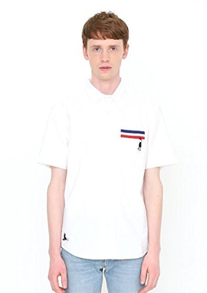 バストうめき声先住民(グラニフ) graniph ビューティフルシャドーショートスリーブシャツ (ペインティングビューティフルシャドー) (ホワイト)