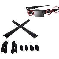 Galaxy Nose Pads & Earsocks Rubber Kits For Oakley Flak Jacket XLJ Black