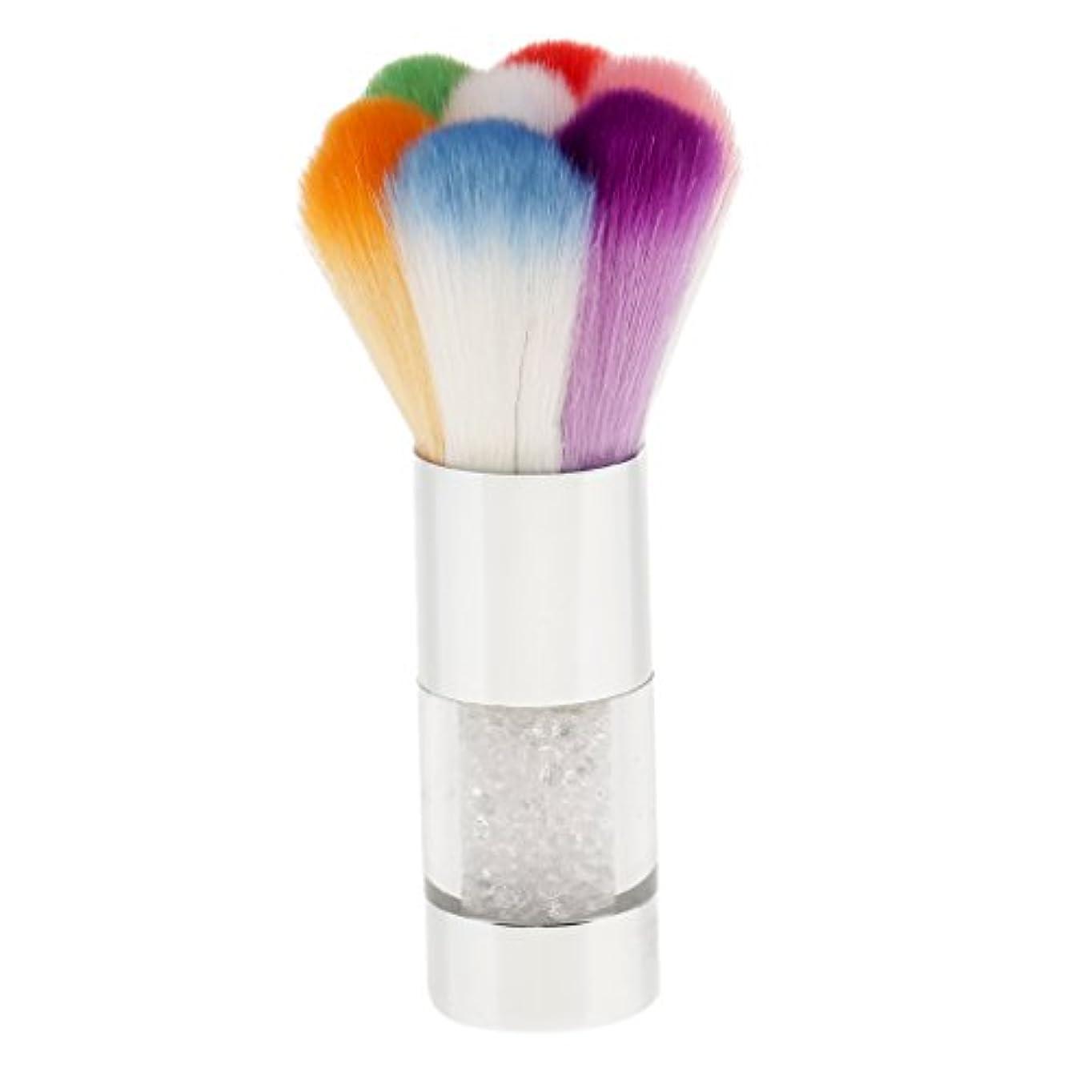 Kesoto ネイルダストクリーンブラシ ふわふわ カラフルなネイルアートブラシ ダストクリーナー 洗浄 UVゲル パウムリムーバー