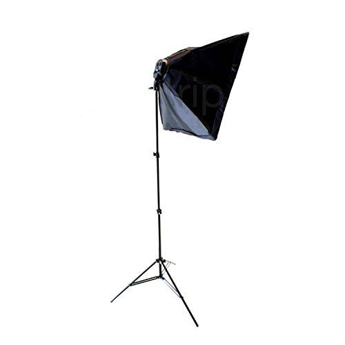 【DIGITAL TRIP】バンクライト 写真撮影用照明セット 4灯ソケット+三脚スタンド+傘 ソフトボックス