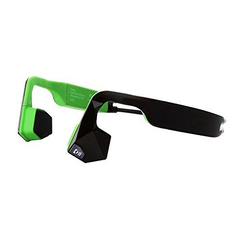 KSCAT 骨伝導 ヘッドホン Bluetooth 4.1 ワイヤレス ヘッドセット 高音質 apt-X搭載 CVCノイズキャンセリング技術 ハンズフリー IPX6 防水 サイクリング スポーツイヤホン NICE5 (グリーン)