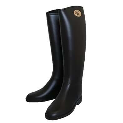 Dafna ダフナ Winner Zipper With logo Boots ウィナージッパー ロゴ有 (36(約23cm))ブラック