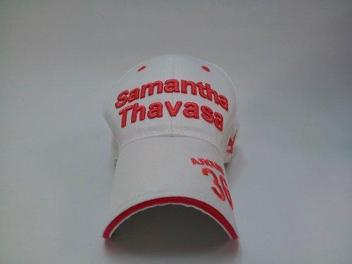 レディースキャップ ゴルフ フリーサイズ ホワイト/ピンク ST6 サマンサタバサ