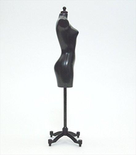 【アウトレット品】 人形用 ドール サイズ マネキン トルソー ドレスフォーム 白・黒 1個ずつセット 【ノーブランド品】B1W1