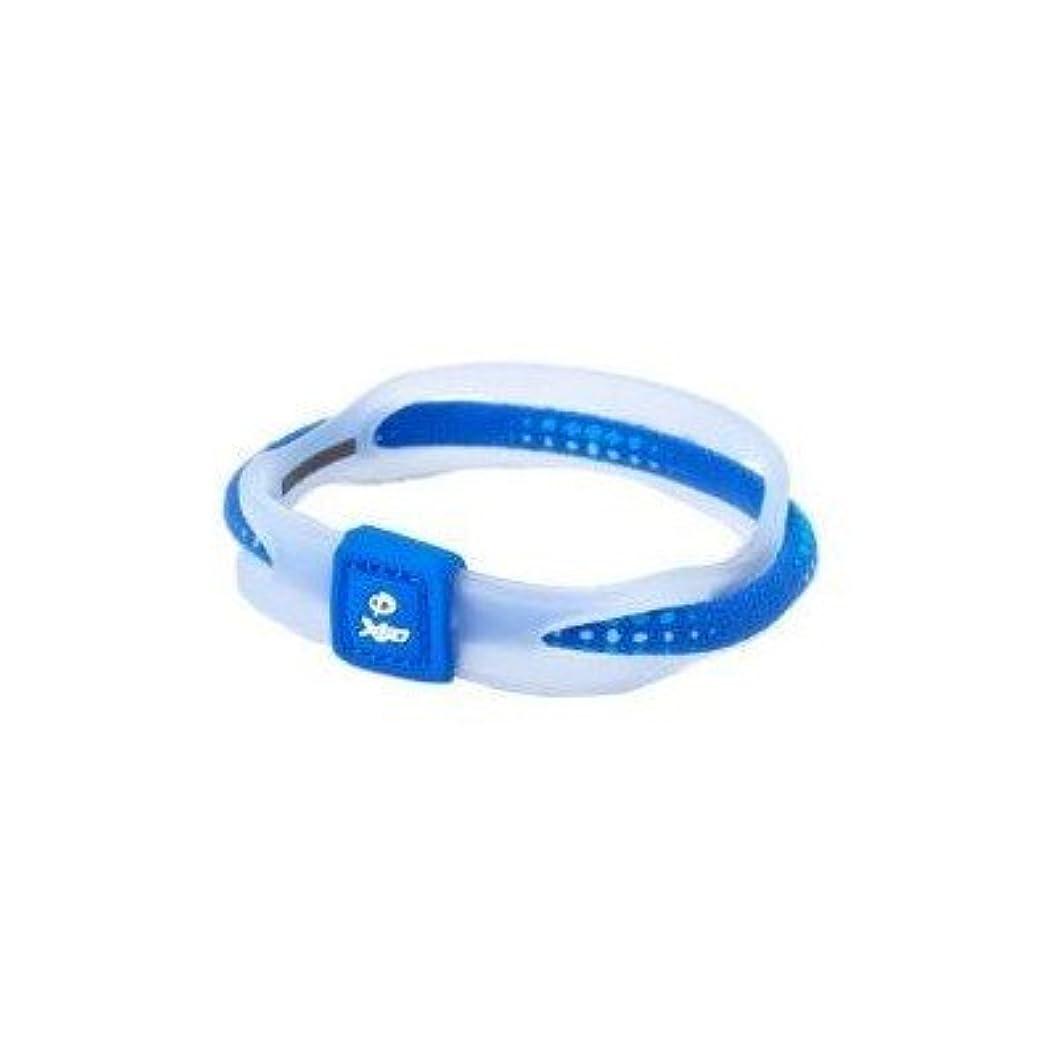 休戦ウェーハ掃くPhiten(ファイテン) RAKUWA ブレス X50 ブルー 17CM TG497225[通販用梱包品]
