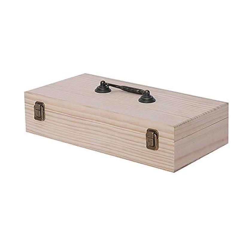万一に備えてスライス原油46スロット木エッセンシャルオイルボックス収納ディスプレイの旅行プレゼンテーション用ケースオーガナイザーホルダーキャリーは、エレガントな装飾的なデザインでは5〜15ミリリットルボトルを保護します アロマセラピー製品 (色 : Natural, サイズ : 36.5X18.5X8.5CM)
