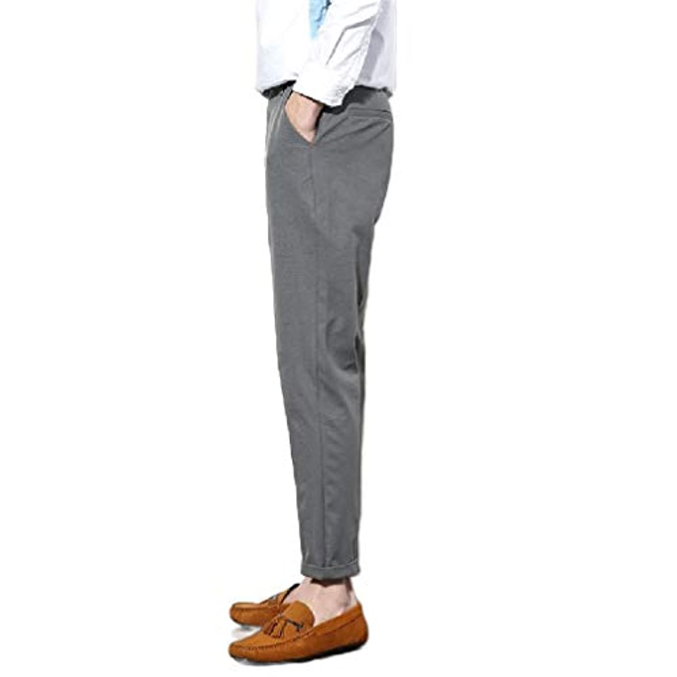 強制的出口統合するAngelSpace Mens Big and Tall Classic Fit Tenths Pants No Iron Dress Pants