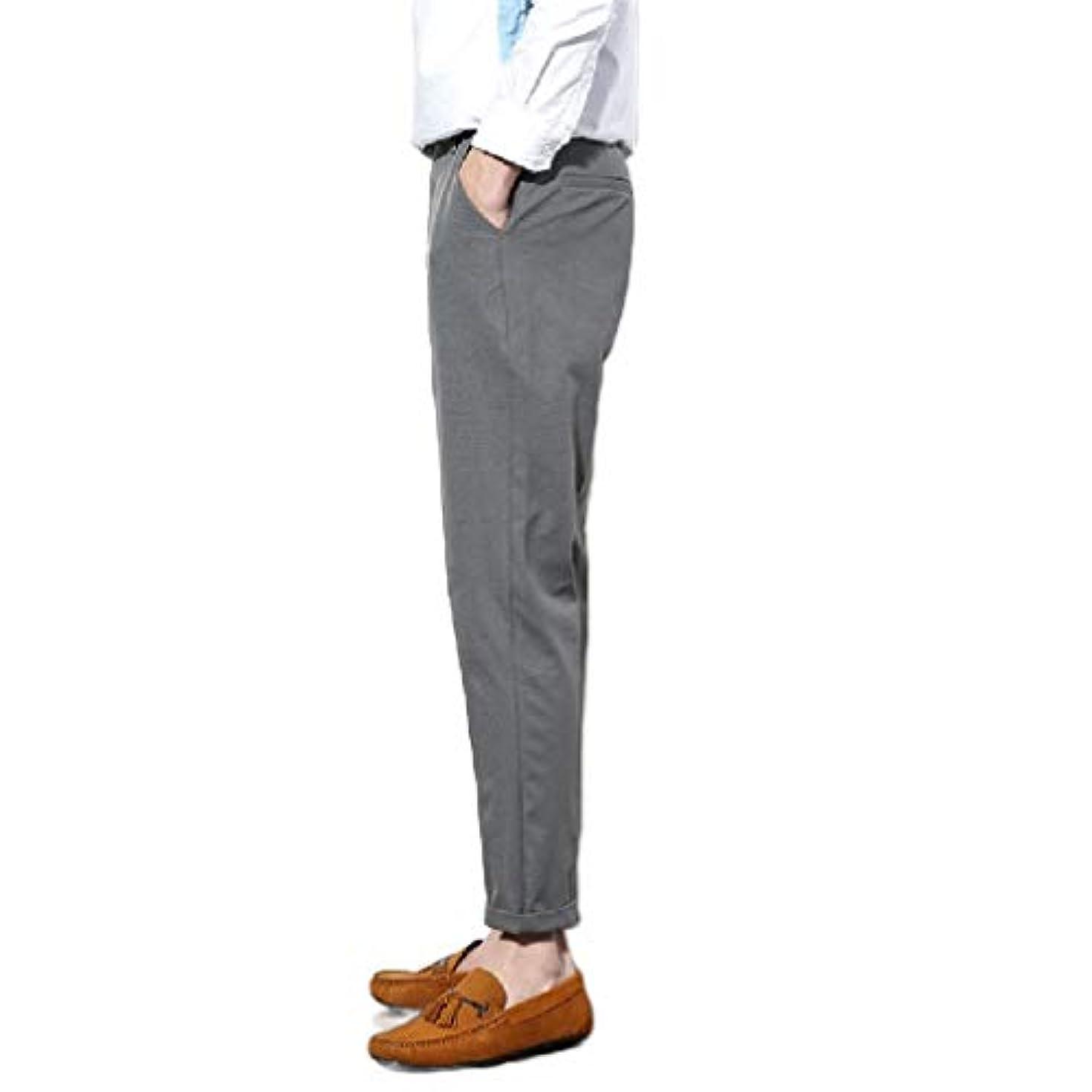生活緊張するタバコNicellyer Men's Big Tall Slim Fitted Tenths Pants Wrinkle Free Plain-Front Pants