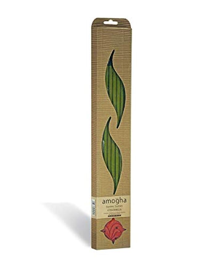 安息冷ややかな強制Iris Amogha Citronella Bamboo Incense Stick Set (8.8 cm x 2.5 cm x 53.3 cm, Green)