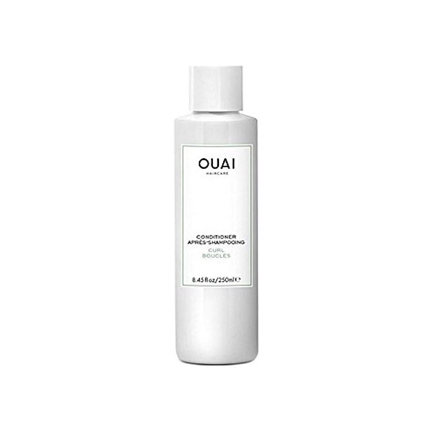 トランスペアレント部分的に中間Ouai Curl Conditioner 250ml (Pack of 6) - カールコンディショナー250 x6 [並行輸入品]