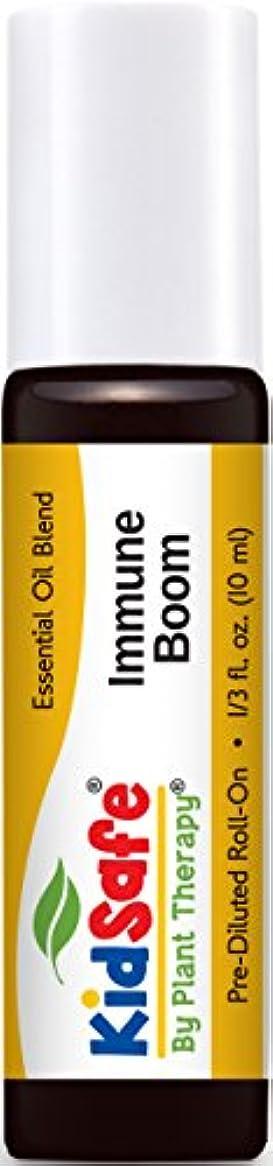 興奮するドライバチームPlant Therapy KidSafe Immune Boom Synergy Pre-Diluted Essential Oil Roll-On. Ready to use! Blend of: Lemon, Palmarosa, Dill, Petitgrain, Copaiba and Frankincense Carteri. 10 ml (1/3 oz).