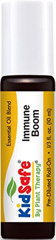 回る驚き持続するPlant Therapy KidSafe Immune Boom Synergy Pre-Diluted Essential Oil Roll-On. Ready to use! Blend of: Lemon, Palmarosa, Dill, Petitgrain, Copaiba and Frankincense Carteri. 10 ml (1/3 oz).